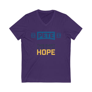 This Shirt Is An Act Of Hope Short Sleeve V-Neck Tee - Boot Edge Edge Merch