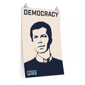 Pete Buttigieg Democracy Poster - Boot Edge Edge Merch
