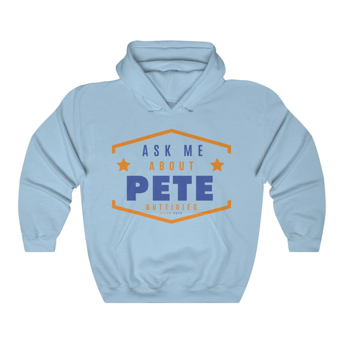 Ask Me About Pete Hoodie - Boot Edge Edge Merch