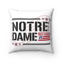 Load image into Gallery viewer, Notre Dame For Pete Buttigieg Pillow - Boot Edge Edge Merch