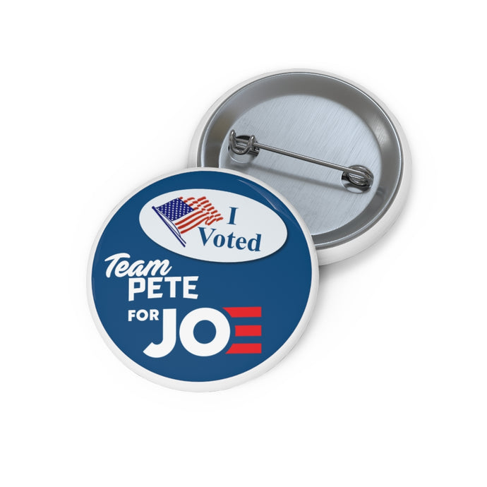 I Voted. Team Pete For Joe Button - Boot Edge Edge Merch