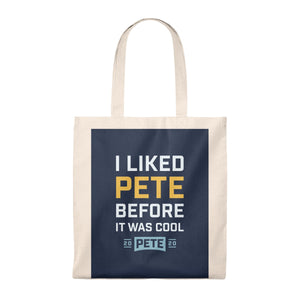 I Liked Pete Before It Was Cool tote Bag