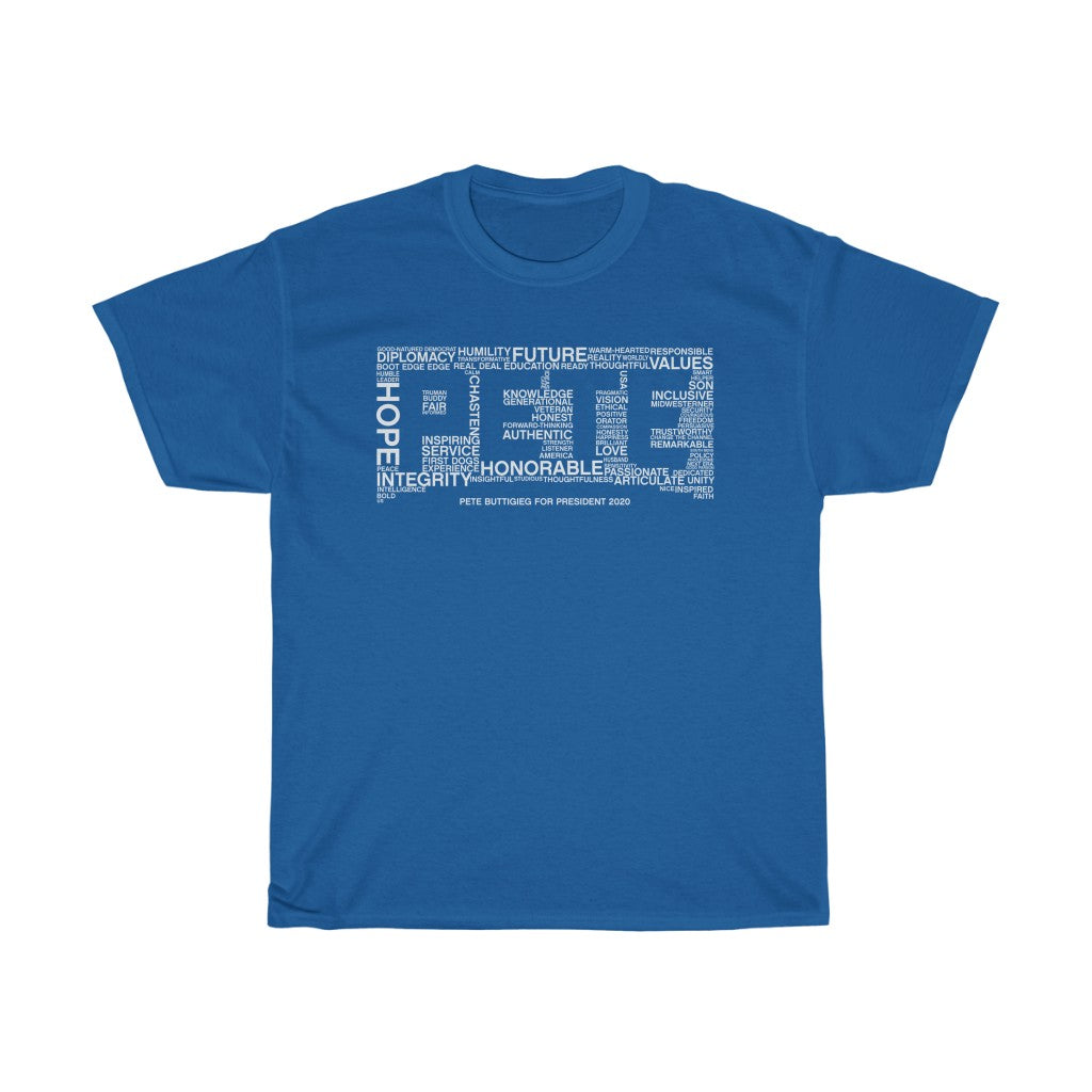 Pete Word Cloud White T-Shirt - Boot Edge Edge Merch
