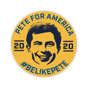 Pete For America #BeLikePete Yellow Sticker