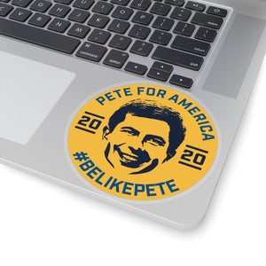 Pete For America #BeLikePete Yellow Sticker - Boot Edge Edge Merch