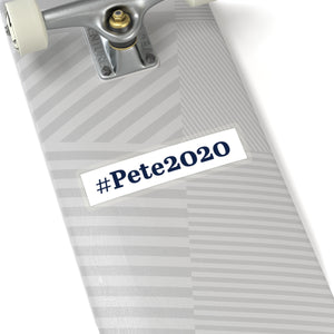 Blue on White #Pete2020 Bumper Sticker - Boot Edge Edge Merch