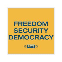 Load image into Gallery viewer, Freedom Security Democracy Sticker