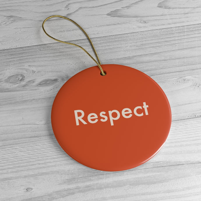 Rules Of The Road: Respect. Ornament. - Boot Edge Edge Merch
