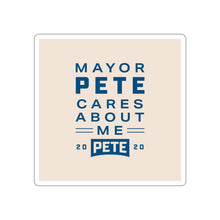 Load image into Gallery viewer, Mayor Pete Cares About Me Sticker