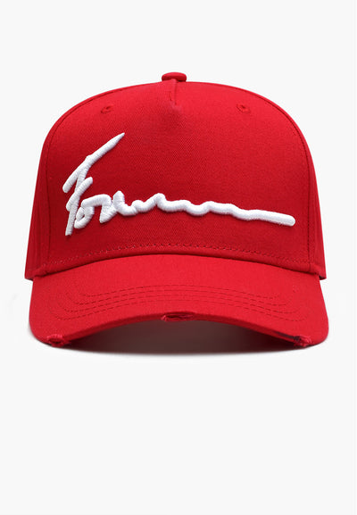Signature Baseball Cap Rouge