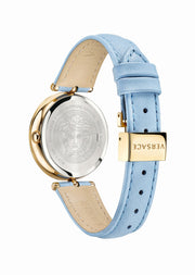 Versace Ladies Swiss Made Palazzo Empire Blue Watch VECQ00918