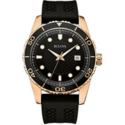 Bulova Mens 98B261 Sports Diver 43mm Rubber Strap Watch