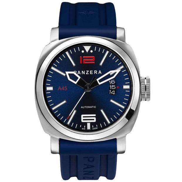 Panzera Men's Atlantic Blue Pioneer MK2 45mm Watch A45-01BSR5