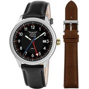 AVIATOR F-Series Men's Dual Time GMT Dual Strap Quartz Watch Gift Set AVW2168G379