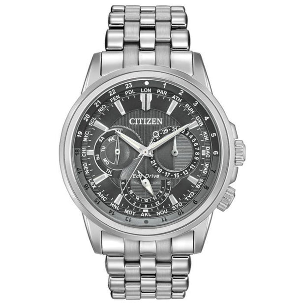 Citizen Men's Calendrier Eco-Drive Stainless Steel Watch BU2021-51H