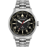 Mens Citizen Eco-drive Promaster Nighthawk 200M Stainless Steel Watch BX1010-53E
