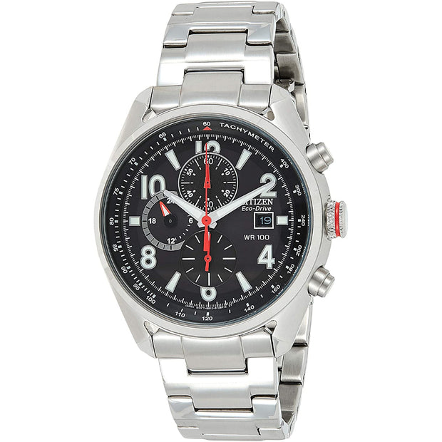 Citizen Men's Eco-drive Chronograph Stainless Steel Watch CA0368-56E