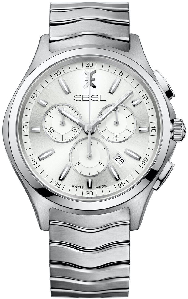 Ebel Wave Chronograph 42mm Mens Watch 1216340