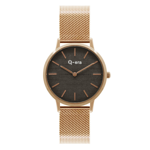 Q-era Alinta Women's Thin Minimalist Rose Gold Watch QV2801-101
