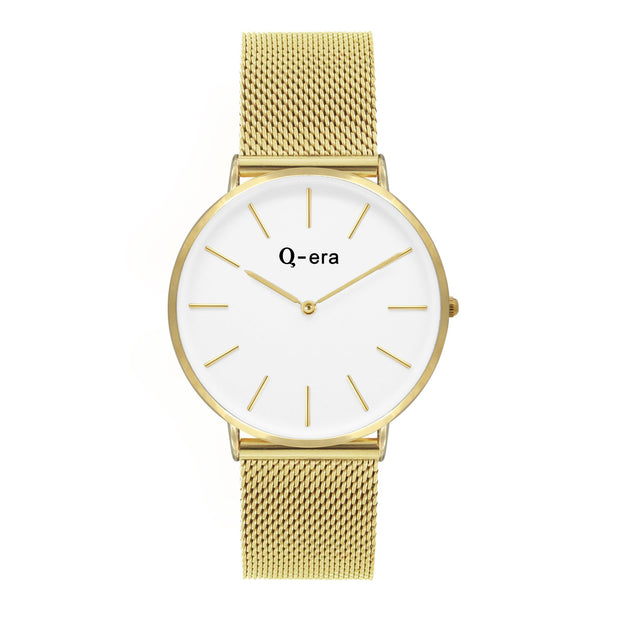 Q-era Elanora Women's 38mm Thin Minimalist Gold Watch QV2804-31
