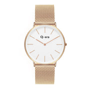 Q-era Elanora Women's 38mm Thin Minimalist Rose Gold Watch QV2804-33