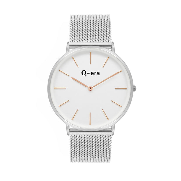 Q-era Men's Yarran Slim Silver Wrist Watch QV2806-14
