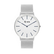 Q-era Men's Yarran Slim Silver Wrist Watch QV2806-15