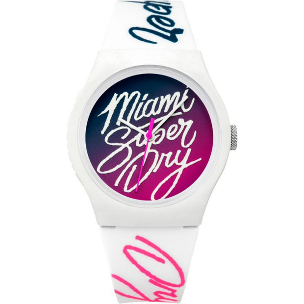 Superdry Ladies Urban Ombre Flash Silicone Watch SYL180WP