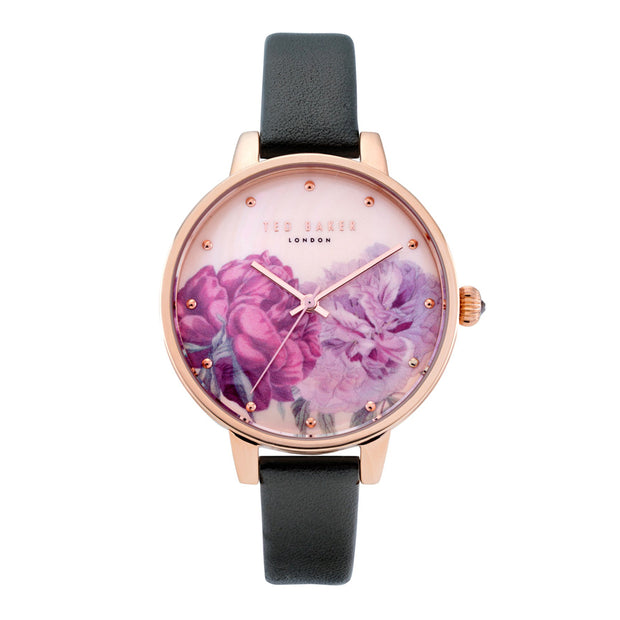 Ted Baker Ladies Kate Floral Rose Gold Watch TE50013016