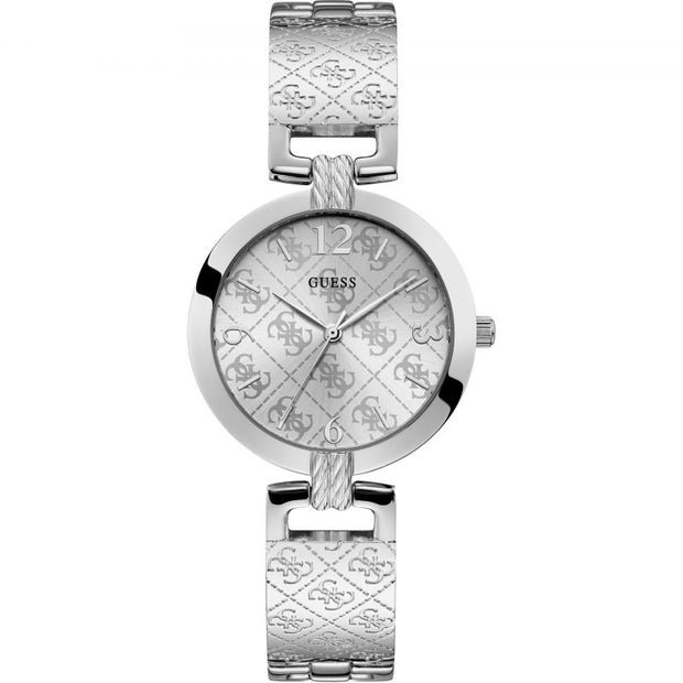 Guess Womens G-Luxe Stainless Steel Bracelet Silver Dial W1228L1