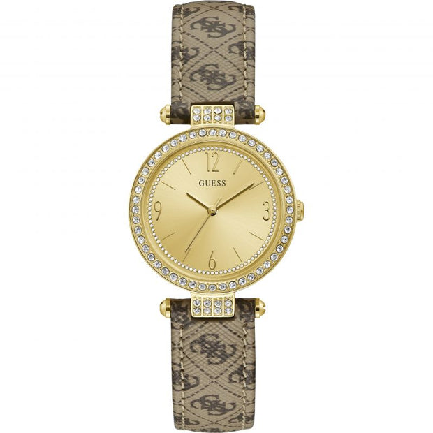 Guess Ladies Terrace Gold Quartz Watch W1230L2
