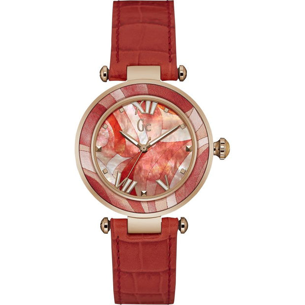Guess Collection Ladies Gc Red Ladychic Watch Y21005L3