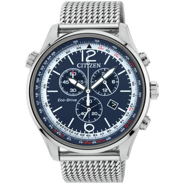 Citizen Eco-Drive Men's Chronograph Mesh Strap Watch AT0361-81L
