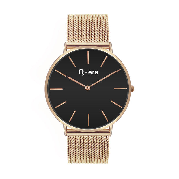 Q-era Men's Yarran Slim Rose Gold Wrist Watch QV2806-13