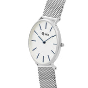 Q-era Men's Yarran Slim Silver Wrist Watch QV2806-15 Side View