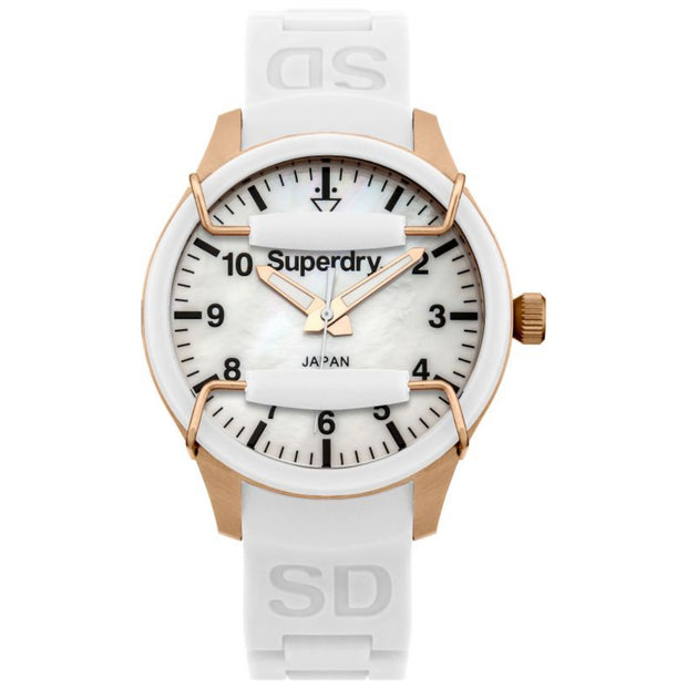 Superdry Ladies White Scuba Watch SYL128W