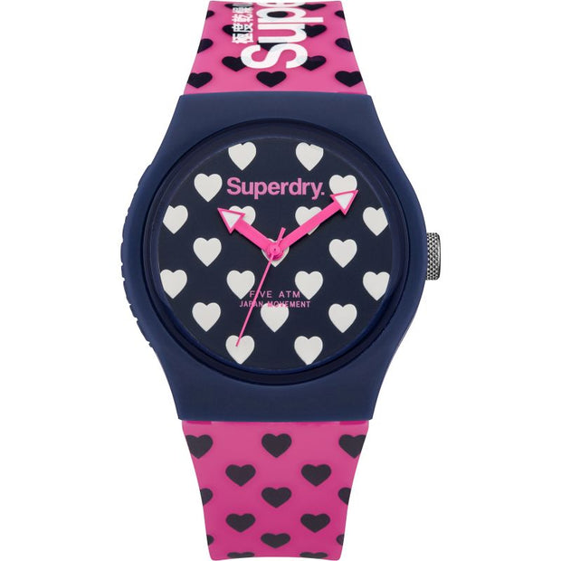 Superdry Ladies Urban Pink Strap Watch SYL168UP