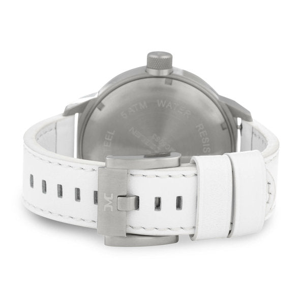 TW Steel Marc Coblen Mens White Strap Quartz Watch TWMC44