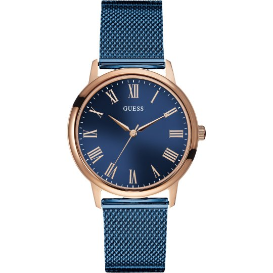 Guess Men's Wafer Blue Dial Watch W0280G6