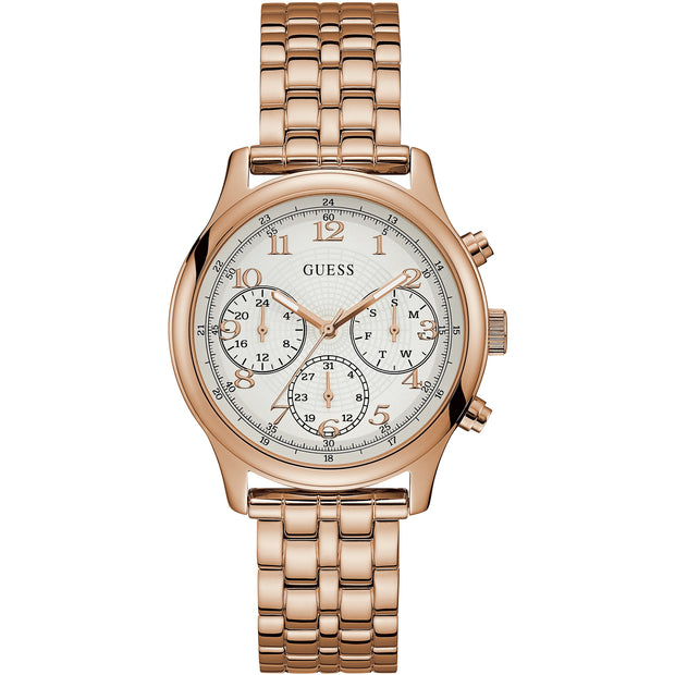 Guess Ladies Taylor Rose Gold Multi Dial Watch W1018L3