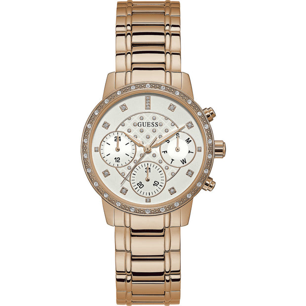 Guess Sunny Ladies Rose Gold Multi Dial Watch W1022L3