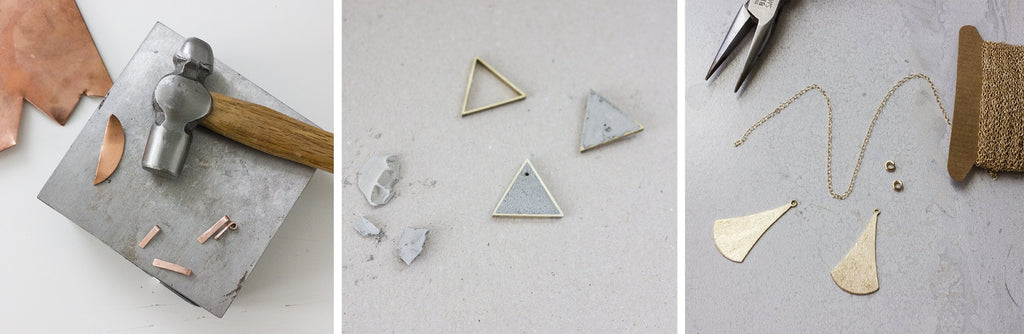 Minimalist jewellery handmade in Norfolk