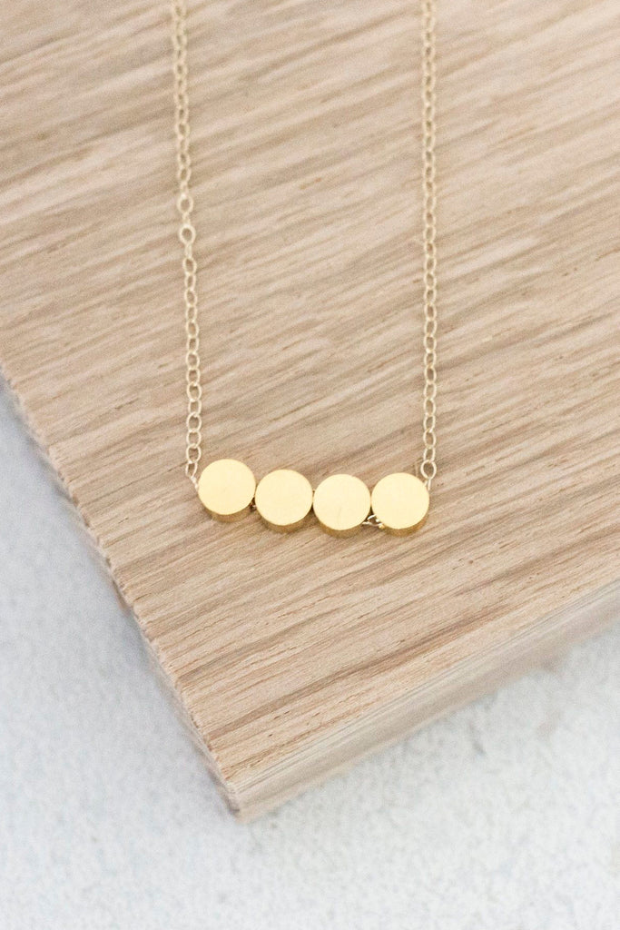 Round Brass Bead Necklace