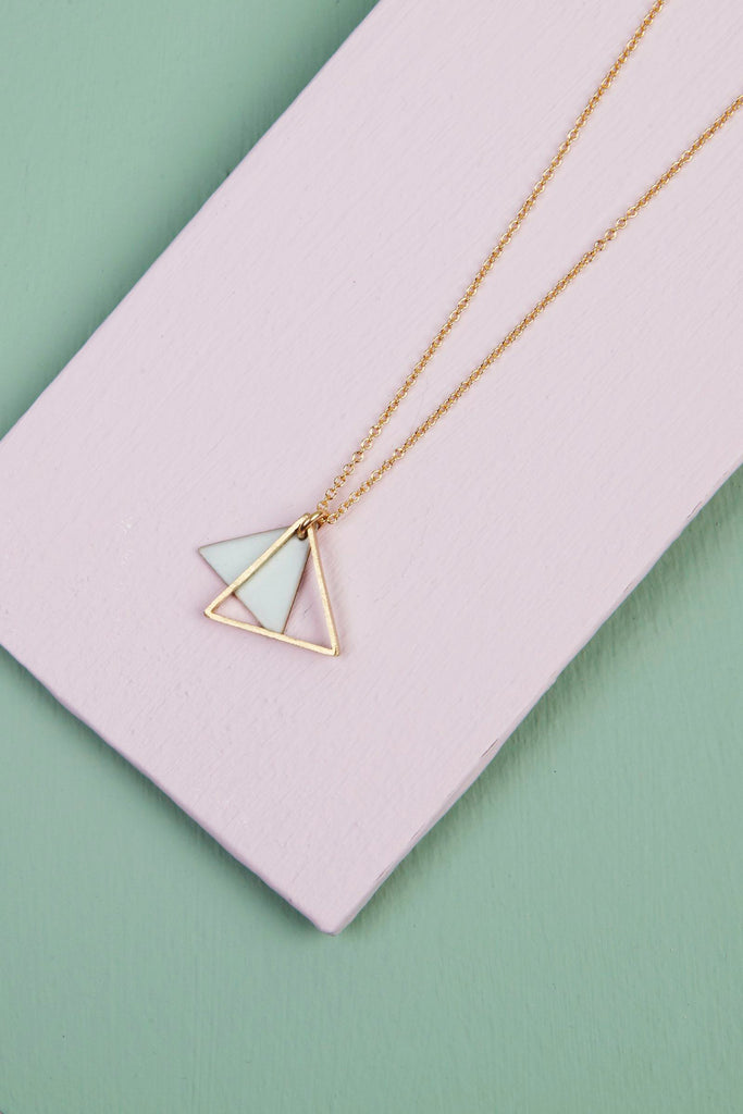 Mini Double Triangle Necklace