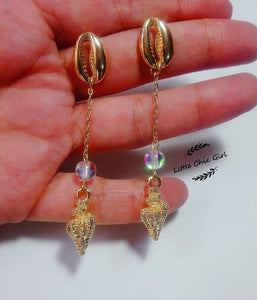 Shell LONG earrings