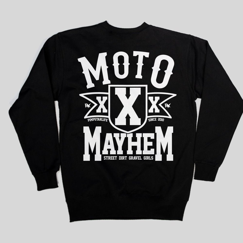 Pimpstar - Motomayhem | Crew Neck, Black