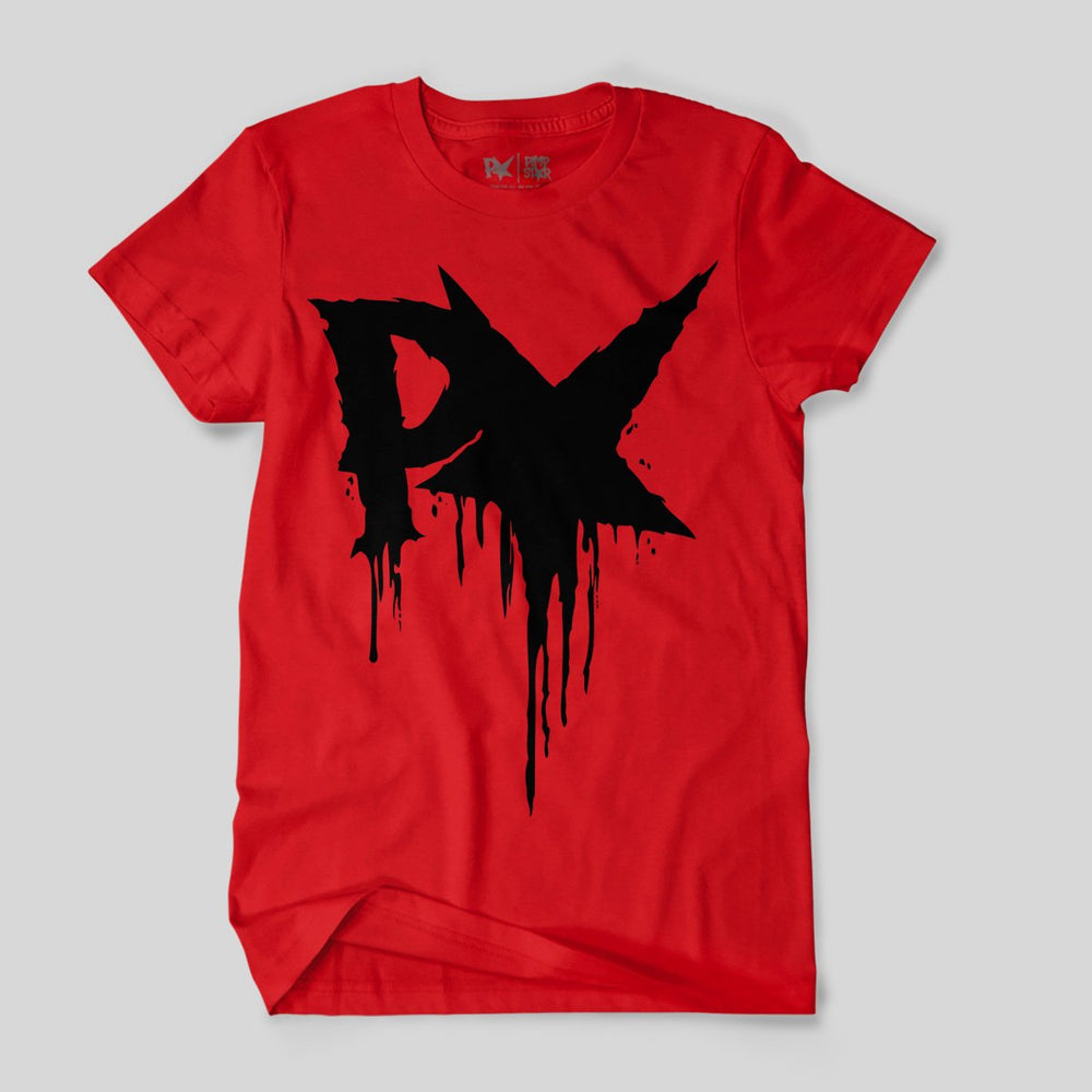 Pimpstar Big Logo Drip | T-shirt, Red