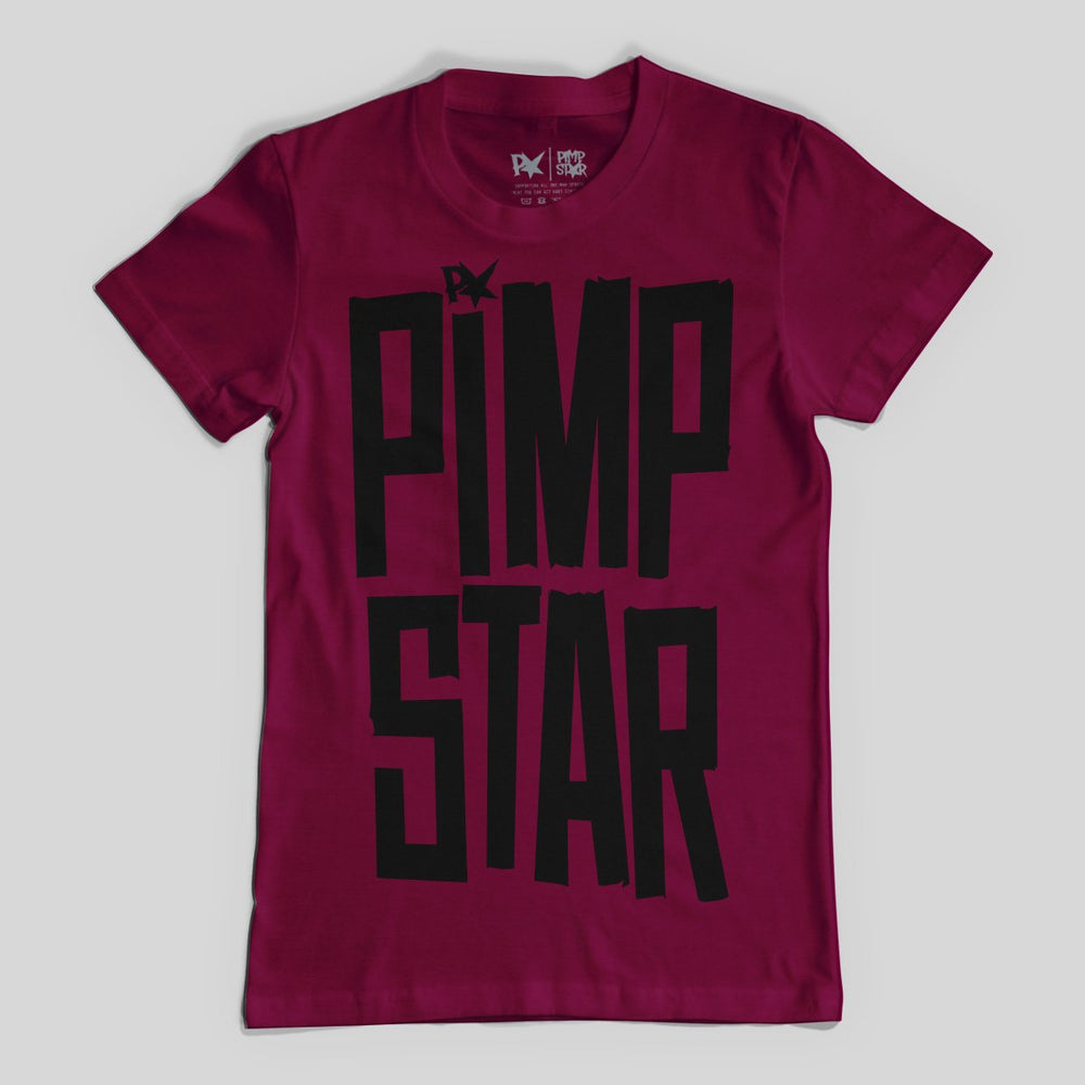 Pimpstar Tape | T-shirt, Burgundy