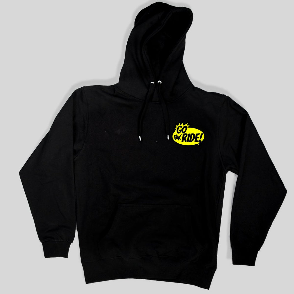 Pimpstar - Go Ride chest | Non-zip Hoodie, Black