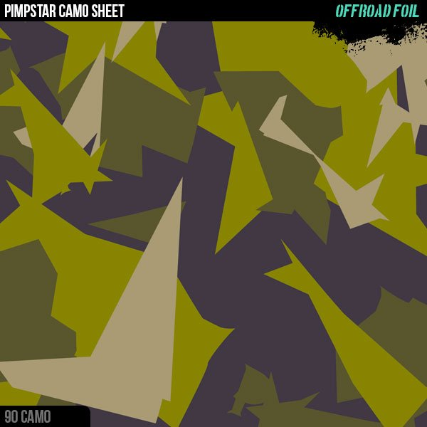 OFFROAD FOIL Sticker Camo Sheet